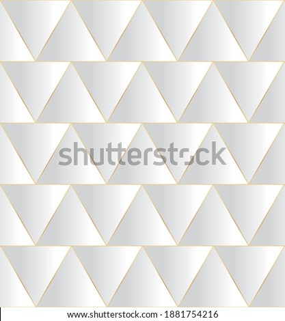 Beige 3d Geometrical Embossed Square and Triangle Shape Vector I Stock photo © cidepix