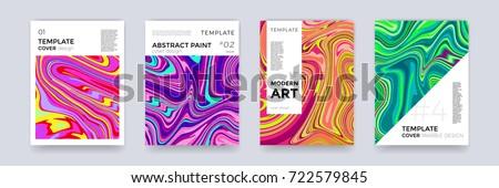 gradient fluid background vector magazine blank ink paint geometric shape liquid design illustra stock photo © pikepicture