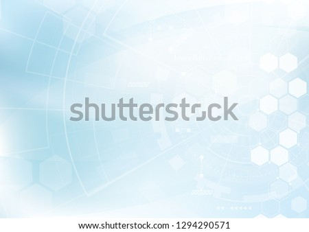 Science and technology background with hexagons. Molecular structure and chemical compounds. Geometr stock photo © kyryloff