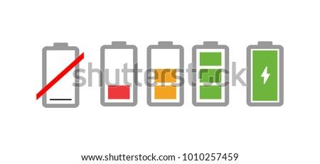bateria · estado · verde · vermelho · poder · elétrico - foto stock © marysan