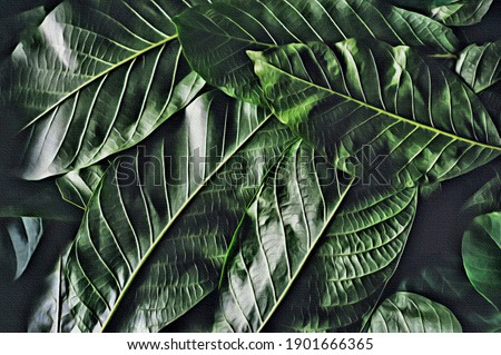 Decorative textured viens leaf macro pattern as a creative background for your ideas in a color of t Stock photo © artjazz