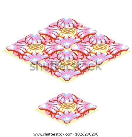 Conjunto piso telha textura rosa tropical Foto stock © Lady-Luck