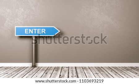 Enter Directional Arrow Road Sign in the Room with Copy Space Stock photo © make