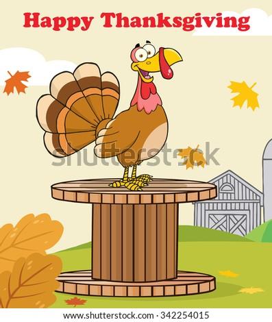cute · Herbst · Grußkarte · Karikatur · Vogel · Vektor - stock foto © hittoon