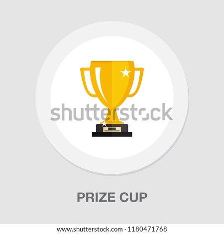 Award Cup Vector. Champion Prize. Winner Icon. Sport Reward. Victory Goblet. Game Medal. Celebration Stock photo © pikepicture