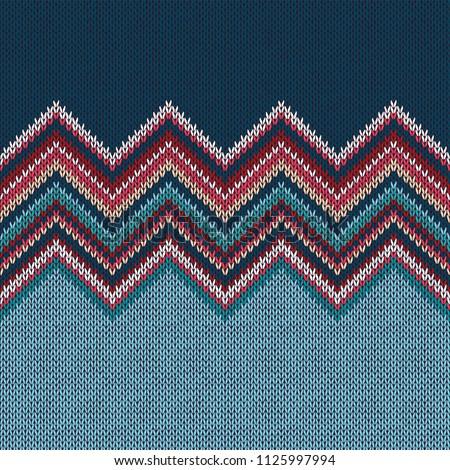 senza · soluzione · di · continuità · inverno · maglia · rosolare · pattern - foto d'archivio © essl