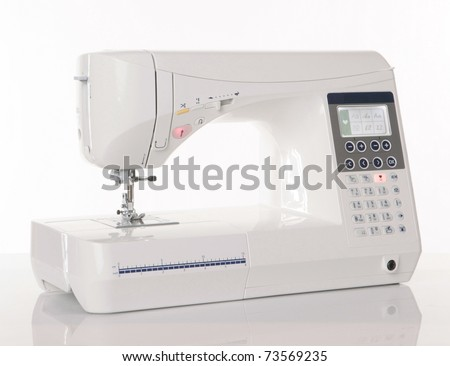 Automatic industrial sewing machine for stitch by digital patter Stock photo © cookelma
