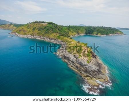 Jaskini ikona phuket Tajlandia widok z lotu ptaka kamery Zdjęcia stock © galitskaya