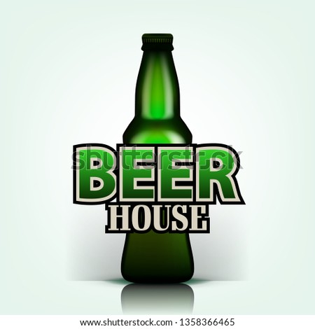 Cerveza vector casa volante verde Foto stock © pikepicture