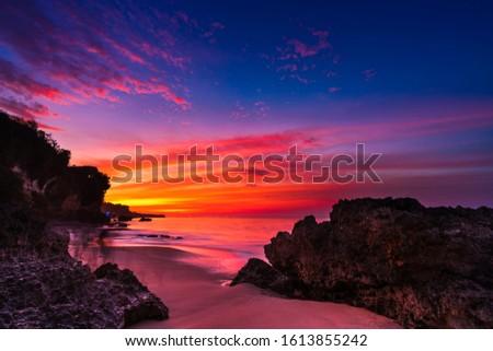 Beautiful view over the caribbean sea in the Dominican Republic. Stock photo © ajn