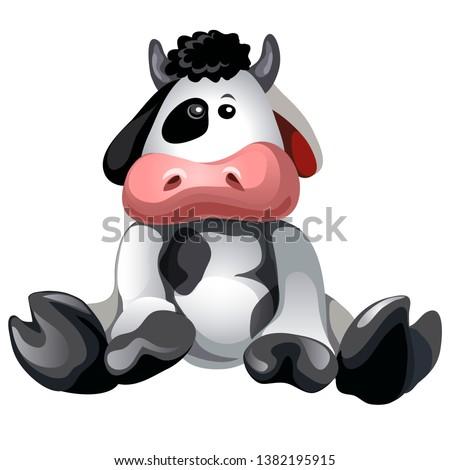 mucca · verde · animale · vettore - foto d'archivio © lady-luck