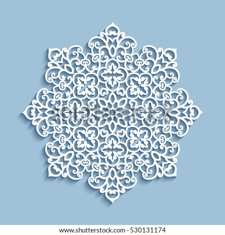 Mandala csipke vektor minta terv virágok Stock fotó © RedKoala