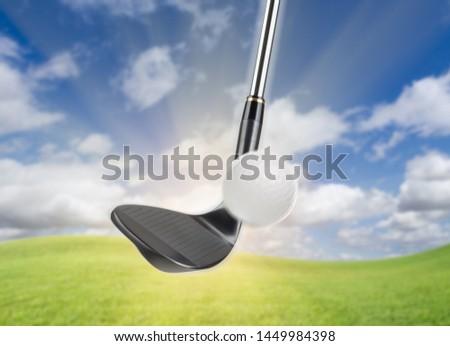 Zwarte golf club wig ijzer gras Stockfoto © feverpitch