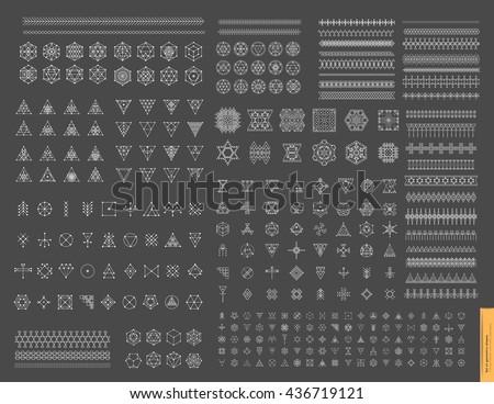 Esoteric, Alchemy, sacred geometry, tribal and Aztec, sacred geometry, mystic shapes, symbol and ico Stock photo © marish