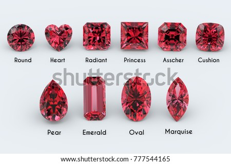 Red heart gemstone, garnet or ruby in the shape of a heart. Glittering gemstone icon on black backgr Stock photo © MarySan