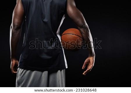 Fiatal profi kosárlabdázó tart labda arc Stock fotó © pressmaster