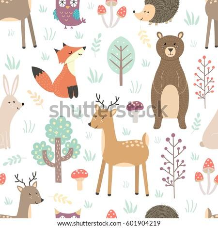 animais · quatro · cores · grunge - foto stock © margolana
