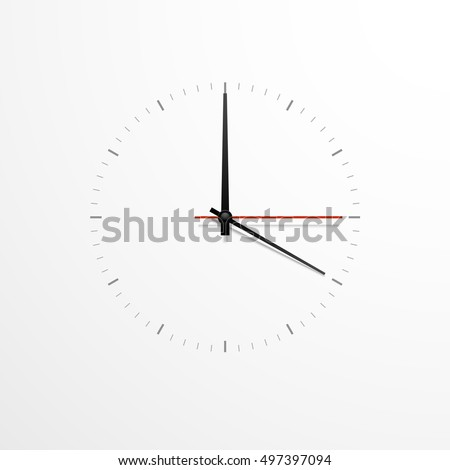white clock design isolated on white background ready for your design clock icon time is ticking stock photo © kyryloff