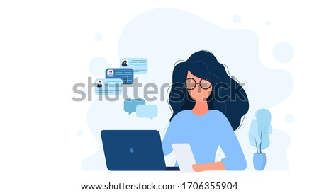 Business woman working on laptop with cloud technology concept Stock photo © ra2studio