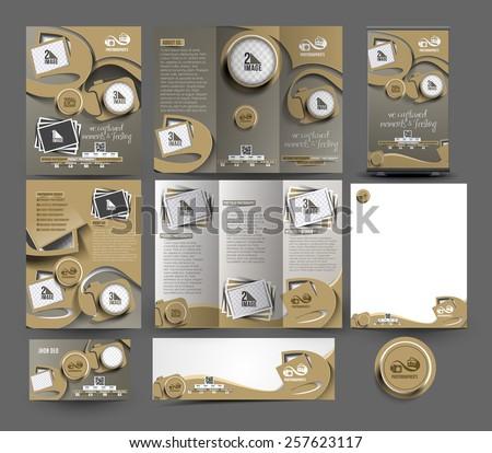 fotografia · fotocamera · flyer · brochure · poster · modello - foto d'archivio © vector1st