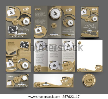 Fotografii kamery ulotki broszura plakat szablon Zdjęcia stock © vector1st