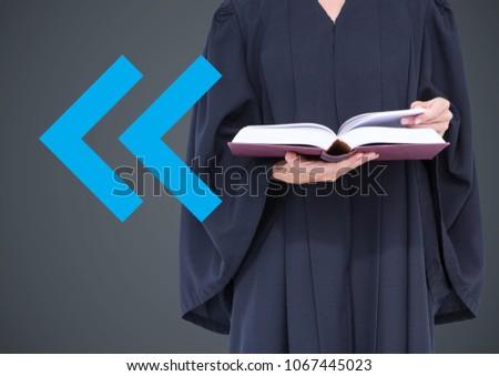 裁判官 図書 青 矢印 グレー ストックフォト © wavebreak_media