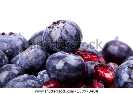 Fresh raw organic summer berries and exotic fruits. Macro. Close up. Pineapple, papaya, grapes, nect Stock photo © DenisMArt