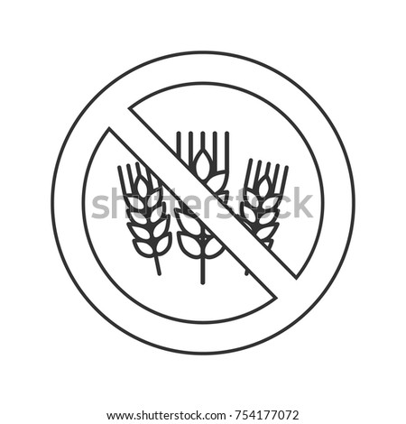 Gluten free icon - ear of wheat and ban sign, gluten free label  Stock photo © Winner