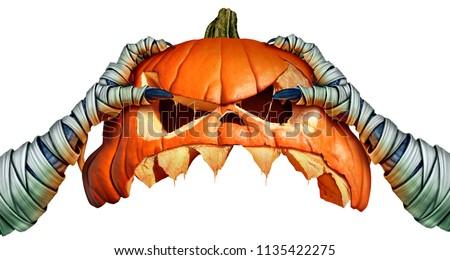 halloween · el · eller · uzay · metin · kutlama - stok fotoğraf © furmanphoto
