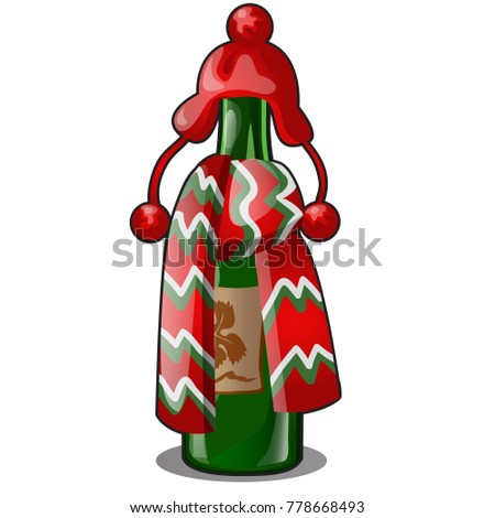 üres üveg zöld üveg díszített piros Stock fotó © Lady-Luck