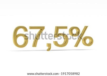 sixty seven percent on white background isolated 3d illustratio stock photo © iserg
