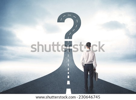 the uncertainty concept with businessman lost in maze labyrinth stock photo © elnur