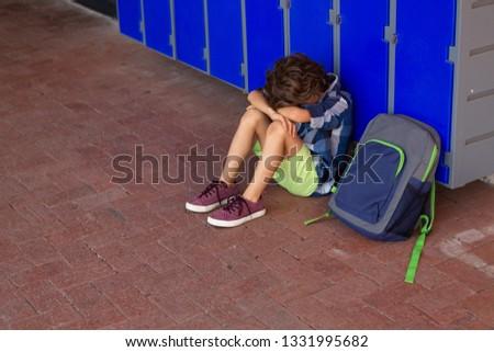 Vue triste frustré écolier Photo stock © wavebreak_media