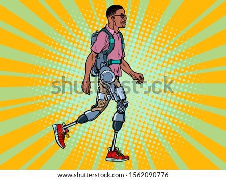 Discapacidad África hombre veterano rehabilitación tratamiento Foto stock © studiostoks