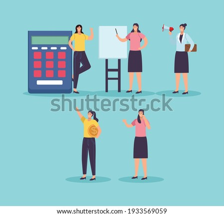 Boss and Employee Woman with Megaphone Coin Money Stock photo © robuart