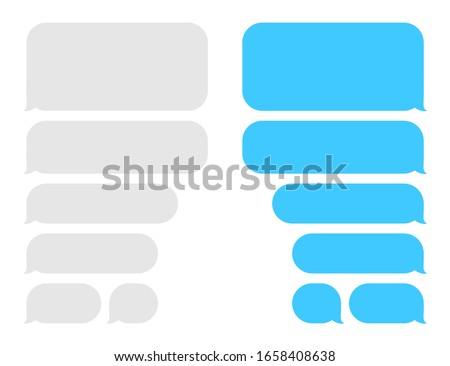 Ui telefon sohbet mavi arayüz Stok fotoğraf © MarySan