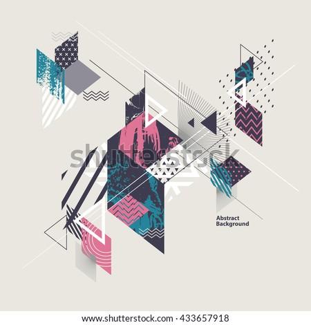 Abstract geometric isometric rhombus shape. Graphic design element template for logo design. Stock V Stock photo © kyryloff