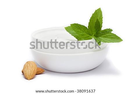 Face cream moisturizer jar on mint background, moisturizing skin Stock photo © Anneleven