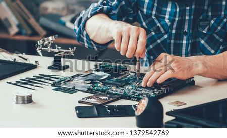 Utrzymanie wsparcia usługi nie do poznania naprawy Zdjęcia stock © vkstudio