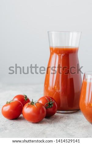 Geïsoleerd verticaal shot vers tomatensap rijp Stockfoto © vkstudio