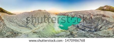 Aéreo panorámica tiro volcán indonesio idioma Foto stock © galitskaya