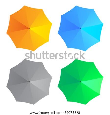 Guarda-chuva chuva ícone verde círculo tempo Foto stock © Imaagio