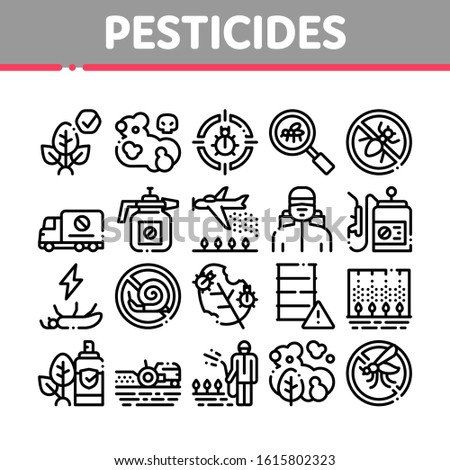 Pesticides Chemical Collection Icons Set Vector Stock photo © pikepicture