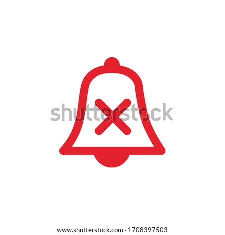 No alarm silent bell icon illustration woth cross. Mobile phone app muted sound and notifications. S Stock photo © kyryloff