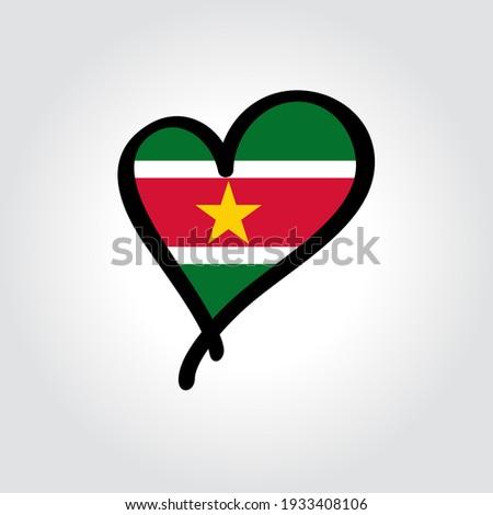флаг Суринам форма сердце любви Сток-фото © butenkow