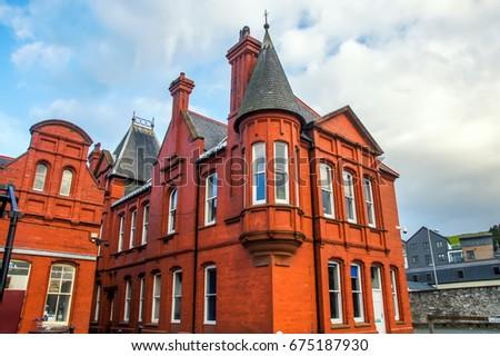 Gótico estilo edad central casa nuevos Foto stock © artjazz
