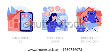 Stad home cognitieve verstand vector metaforen Stockfoto © RAStudio
