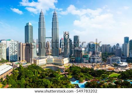 Gratte-ciel Kuala Lumpur Malaisie ville centre Skyline Photo stock © galitskaya