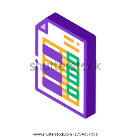 Price List Financial Document File isometric icon Stock photo © pikepicture