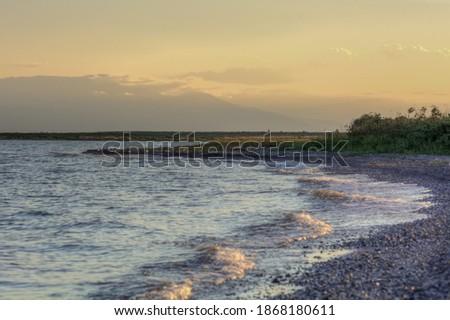 Mooie groene woestijn bergen rivier Stockfoto © pixelsnap